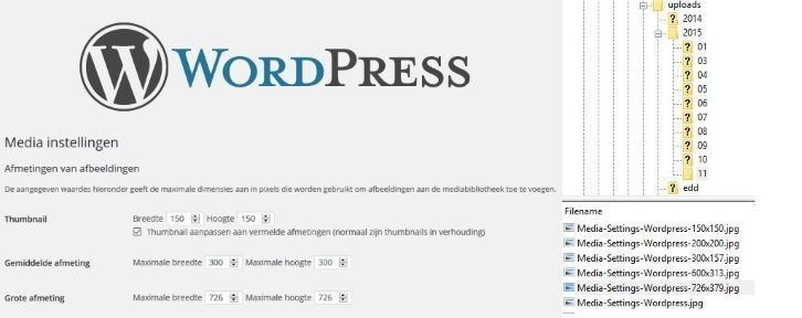 Configure Media Settings in Wordpress