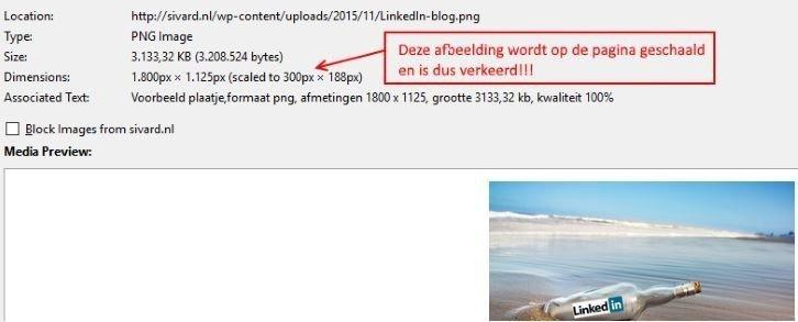 Voorbeeld  van schaling van een afbeelding op een pagina