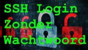 ssh verbinding maken zonder wachtwoord